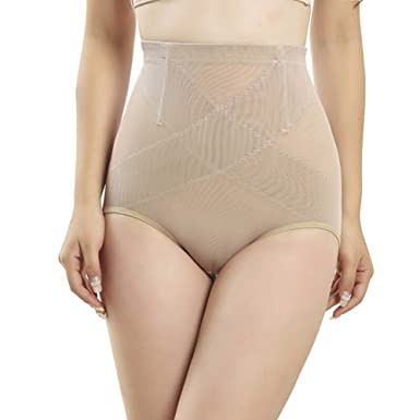 9794745bd8874 Queenral Seamless Shaper Briefs for Women High Waisted Tummy Control  Panties Apricot