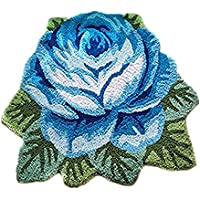 USTIDE Blue Rose Area Rug Antislip Area Carpet/Area Rug Washable Doormat 31.49 Inch x 23.62Inch