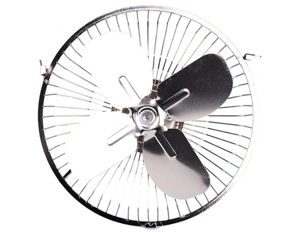 Alger Ventilador del coche 12v 24 v volt coche peque/ño ventilador gran cami/ón aire acondicionado fuerte viento cabeza de refrigeraci/ón four-leaf metal fan 10 12v