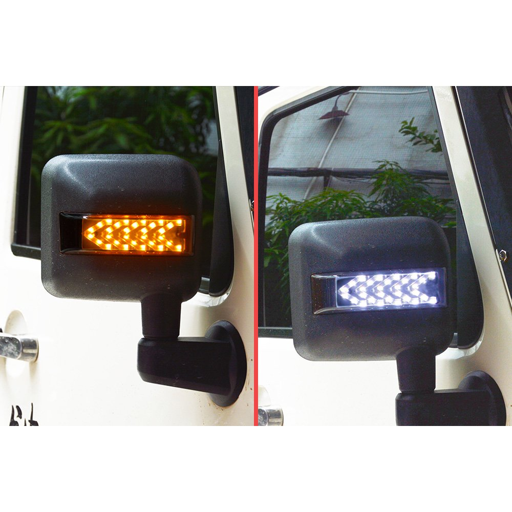 For Jeep Wrangler Jk Led Side Mirror Housing Amber Turn