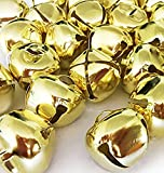 Christmas Ringing Gold Jingle Bells, 1-Inch - (300-Pack) - Beads Charms Xmas Jewellery Craft