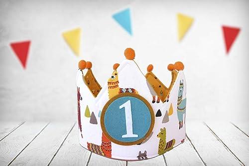 Corona Cumpleaños Llamas (Incluye todos los números ...