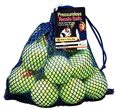 Tourna 18-Pack Mesh Bag of Pressureless Tennis Balls