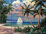 Ceramic Tile Mural - Sailing to Serenity - TC- by T.C. Chiu - Kitchen backsplash / Bathroom shower