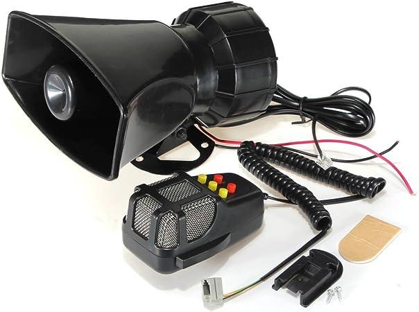 Audew 5 Sounds Hupe Sirene Alarm Horn Signalhorn Lautsprecher 50w 12v Für Auto Motorrad Auto