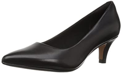 4af4d518f6b CLARKS Women s Linvale Jerica Pump Black Leather 050 ...