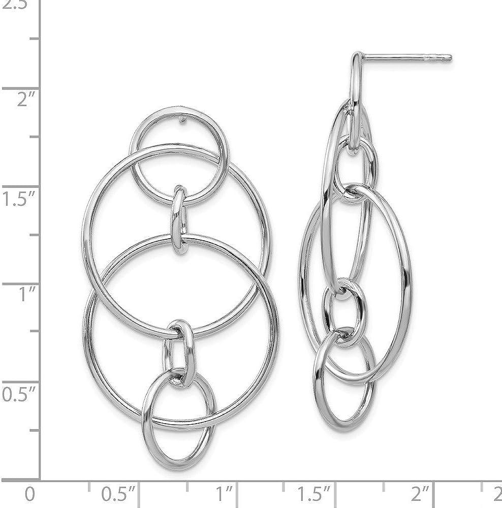Silver Polished Fancy Cirlce Post Earrings