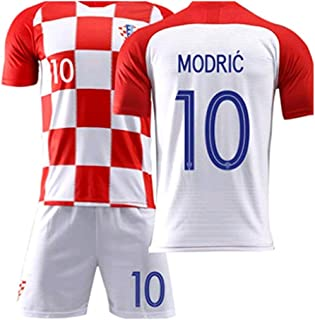 Jersey /& Shorts /& Socks LISIMKE Soccer Team Home 2018//19 Real Madrid Modric #10 Kid Youth Replica Jersey Kit