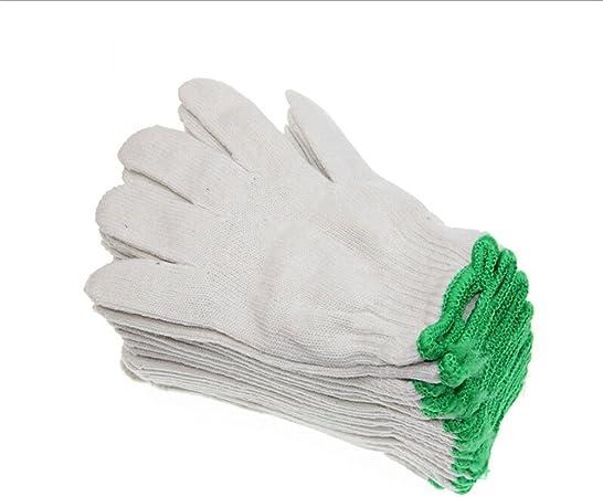 GREATLOVE guantes de trabajo de algodón tejido, protección industrial de fábrica, color blanco: Amazon.es: Bricolaje y herramientas