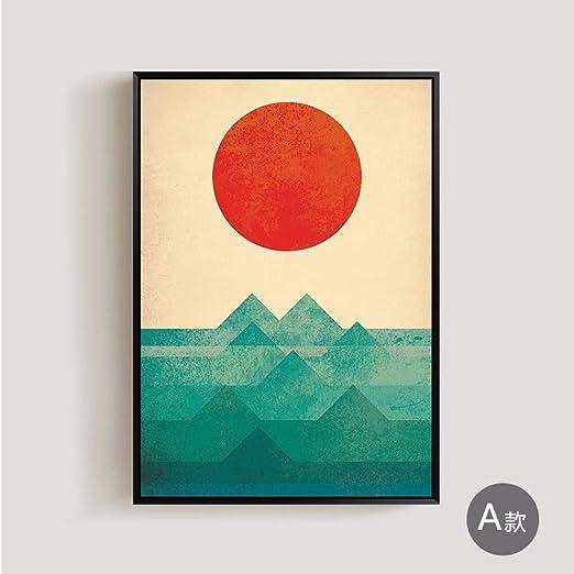 RTCKF Sala de Estar Dormitorio Moderno Abstracto mar Sol ...