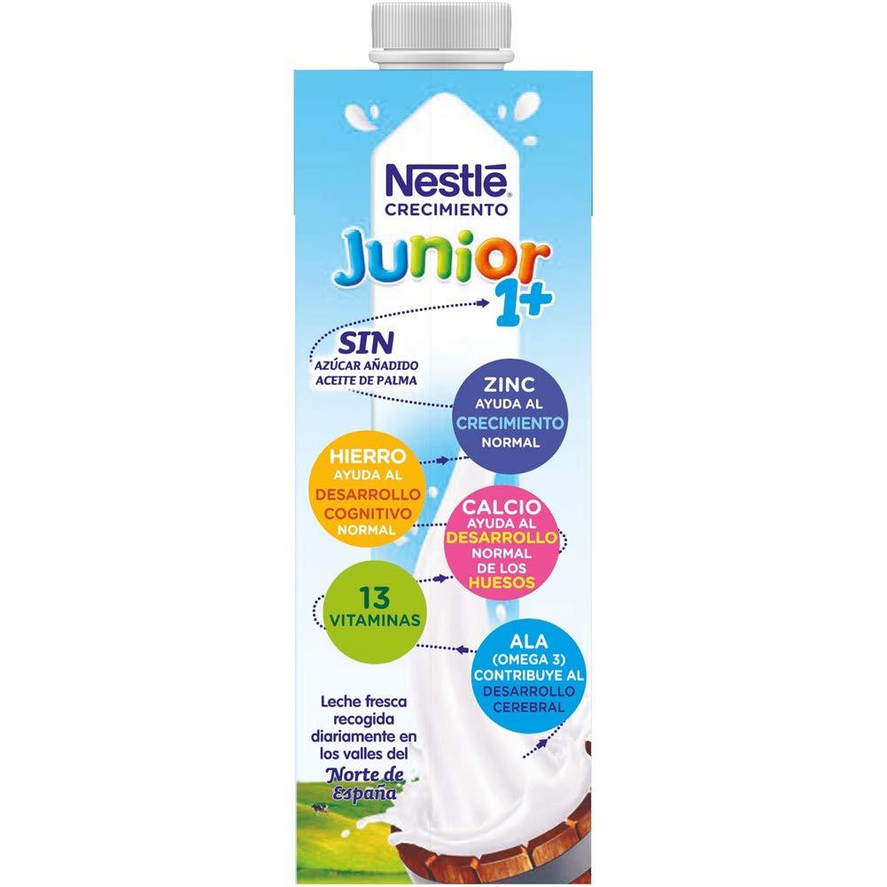 Nestlé Junior 1+ Original - Leche para niños a partir de 1 año - 6x1L, sin azúcar añadido ni aceite de palma: Amazon.es: Alimentación y bebidas