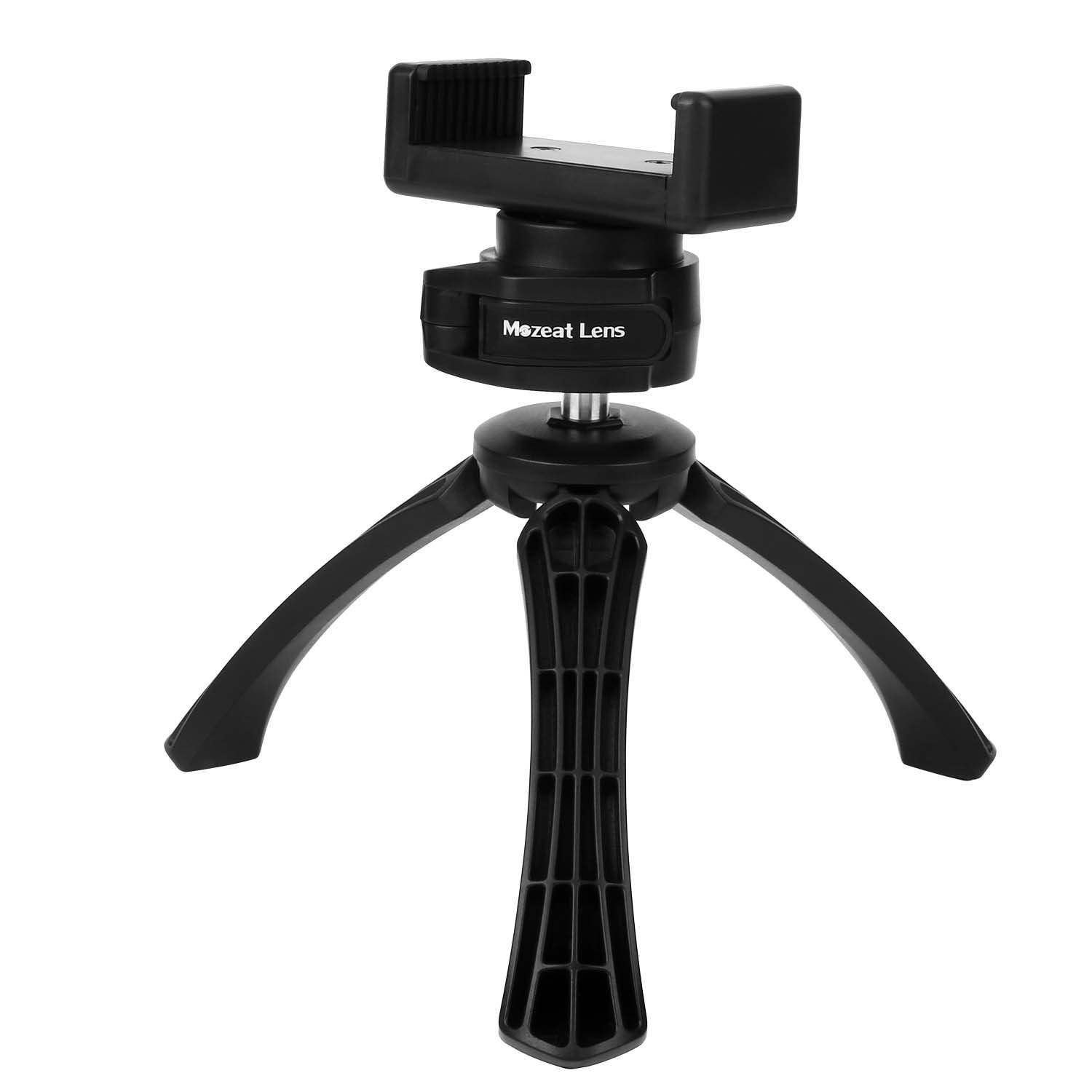 Tripod with Mount for iPhone, Samsung, Android Cellphone, Clip Desktop Mini Phone Holder, 1/4'' Screw Tripod for Digital, DSLR Camera, Mozeat Upgrade Version 1/4 Screw Tripod for Digital Mozeat Lens