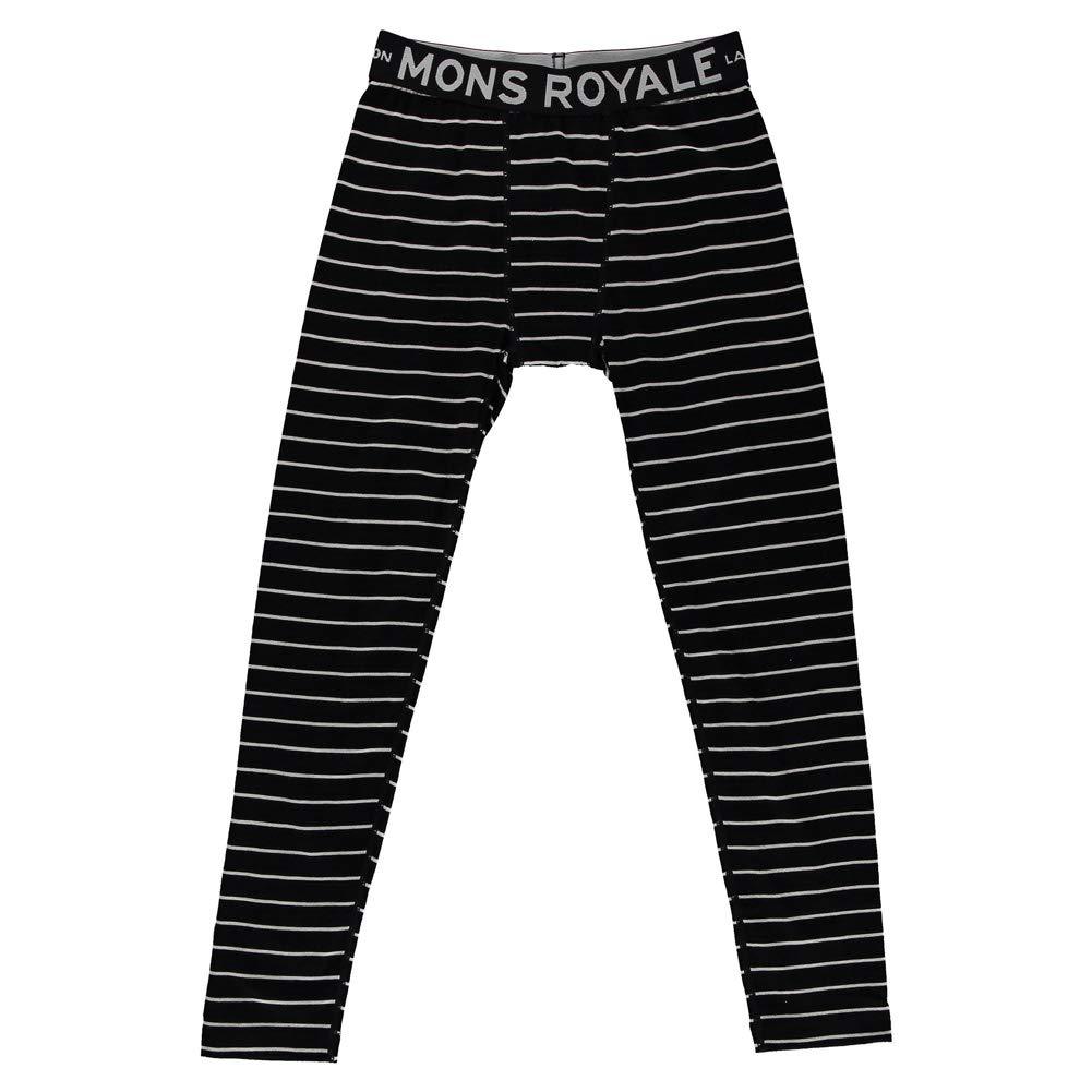 Mons Royale Boy's Groms Legging (8 9, Thin Stripe)