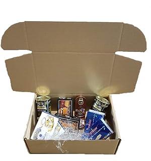Caja de regalo, especial latas del mar, berberechos, mejillones, anchoas, ventresca