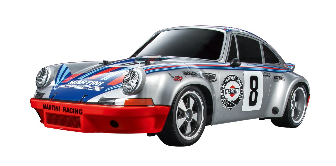 4.Tamiya RSR TT02 RC Porsche 911 Carrera Vehicle