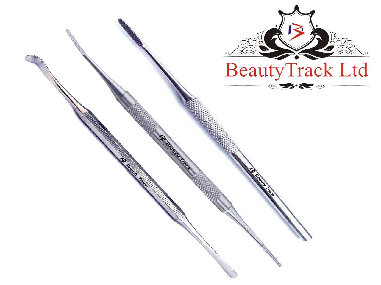 BeautyTrack - Lima per Unghie incarnite & Lifter kit bordi laterali Chiropody incarnite - acciaio inox Podologia strumenti
