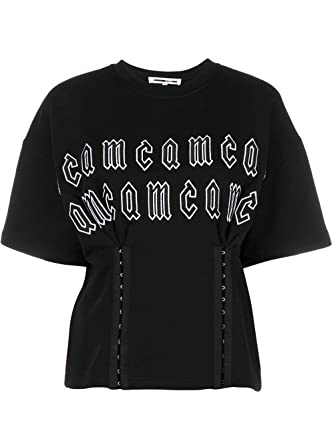 882794e6 Image Unavailable. Image not available for. Color: Mcq Alexander Mcqueen  Women's 499529Rlj071000 Black Cotton T-Shirt