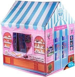 BLWX LY Tienda de campaña Infantil Tienda de Dibujos Animados para niños Casa pequeña Juego de Dibujos Animados Casa de niños Casa de impresión Tienda de Juguetes de Interior: Amazon.es: Deportes y
