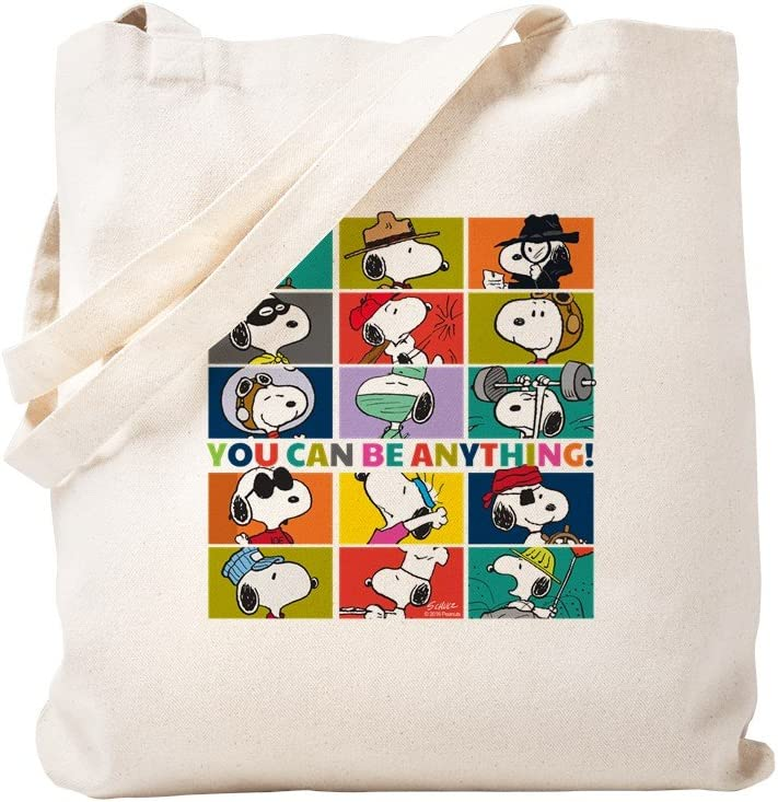 Toile CafePress Snoopy-You Can Be Anything Sac fourre-tout Small kaki