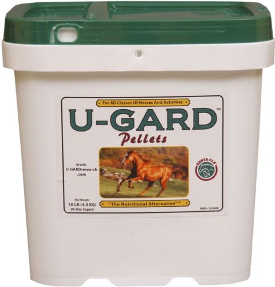 U-Gard Pellets Horse Pony Supplement Ulcers Weight Diarrhea Colic 10 lbs 80 Day Supply