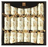 Christmas Crackers by Tom Smith - Deluxe Cream and Gold