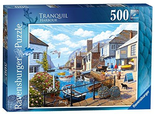 500pc Ravensburger Jigsaw Puzzle - Ravensburger Tranquil Harbour 500pc Jigsaw Puzzle