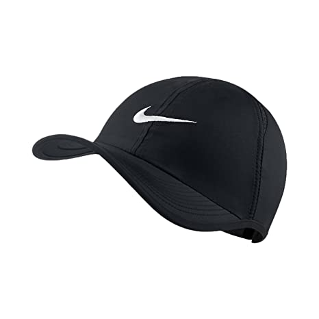 25e2407d08fc2 Image Unavailable. Image not available for. Color  Nike Unisex Featherlight  ADJ Cap Black Black White One Size