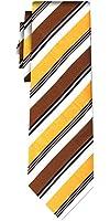cravate soie rayée stripe ochre brown
