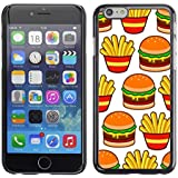 SKCASE Center / Slim Snap On Hard Case Cover - French Fast Food Junk - iPhone 6