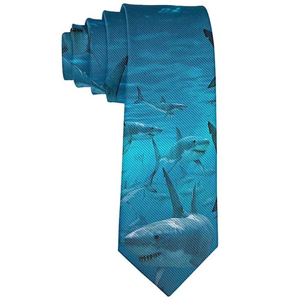 Hombres Corbata Corbata,Hombres Submarino Tiburón Grupo Mar Azul ...