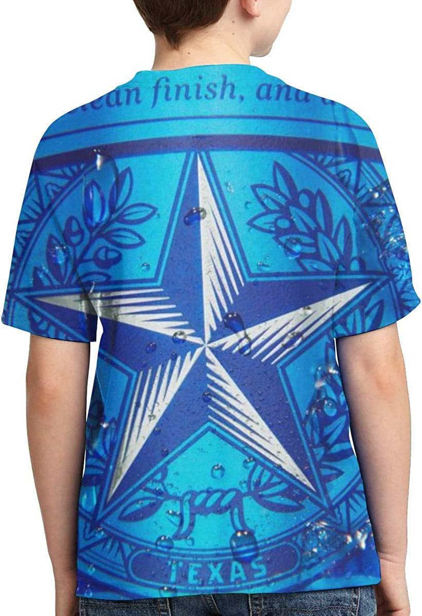 PUTIEN Space Decorations Boys and Girls All Over Print T-Shirt,Crew Neck T-Shirt,Stars
