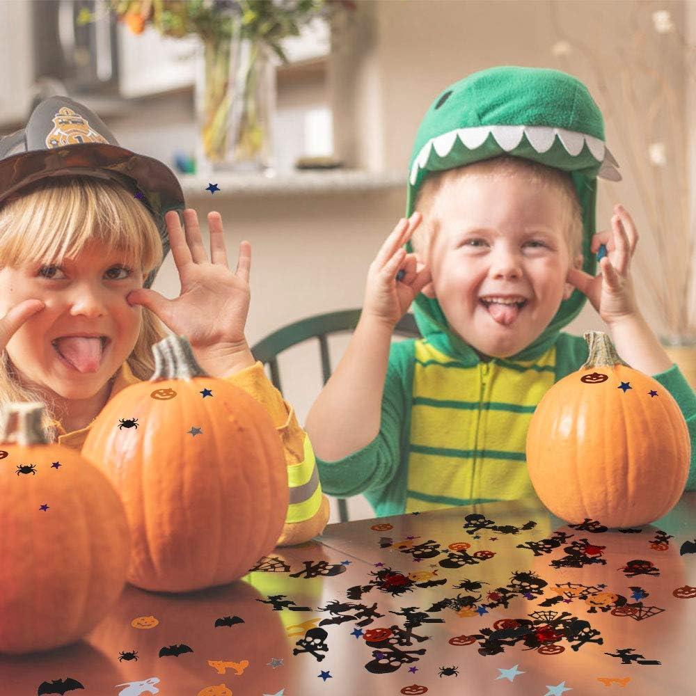 0.6-2.3cm Confeti Ara/ña Confeti Calabaza Gatos Brujas Cr/áneos Fantasma 8 Bolsas de Confeti de Halloween Decoraciones de Halloween Decoraci/ón de Mesa de Halloween Confeti de Fiesta de Halloween