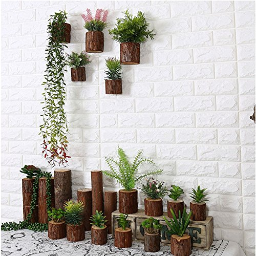 Wood Pile Bonsai Simulation Plastic Plants Hanging Pastoral Style Wall-mounted Home Furnishings Decoration