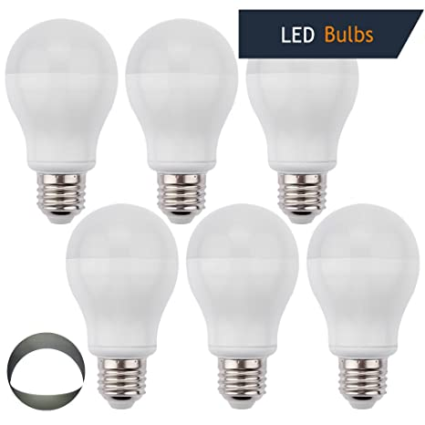 LEDMO (6 Pack) E26 7W LED Bulbs, 60W Incandescent Bulbs Equivalent, White