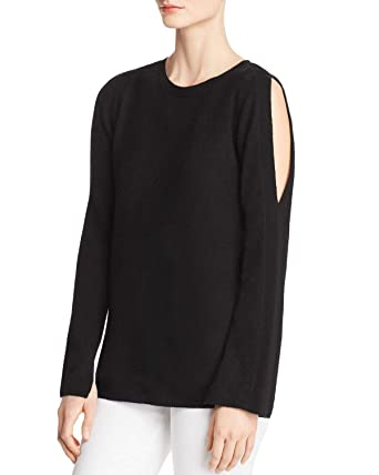 8cd73167570 C by Bloomingdales Womens Cold-Shoulder Cashmere Sweater Black S at ...