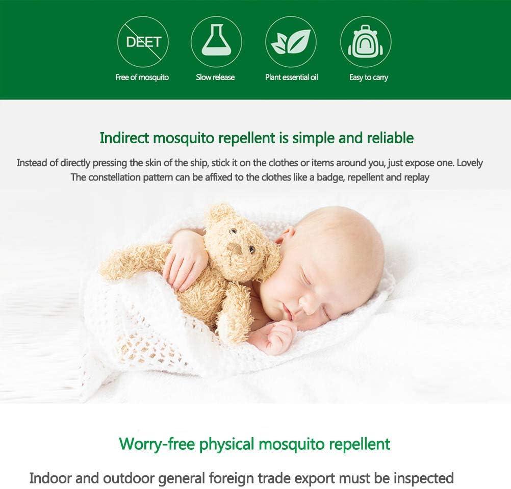 MAOJIE Autocollants Anti-moustiques Autocollant Naturel Anti-Moustique Patch Anti-Moustique de Bande dessin/ée pour Adultes de b/éb/és