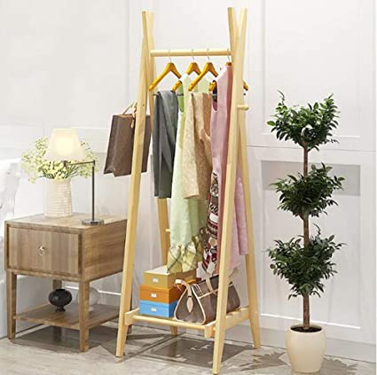 Amazon.com: DTTXTD - Perchero de madera maciza para ...