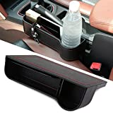 #3: Side Pocket Organizer - Car Seat Filler Gap Space Storage Box Bottle Cup Holder Coin Collector | Car Interior Accessories | Premium PU Leather
