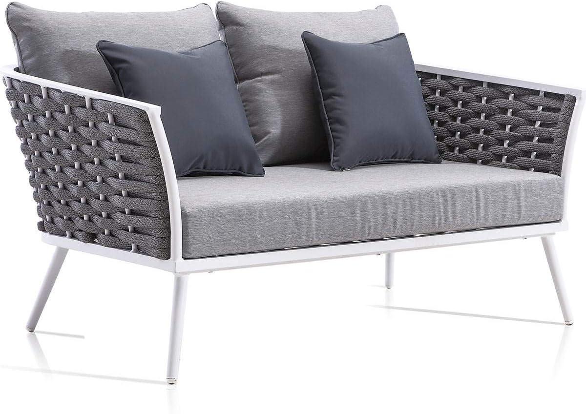 Sofá 2 plazas Aluminio 1ª Calidad Canyamel para Exterior: Amazon ...