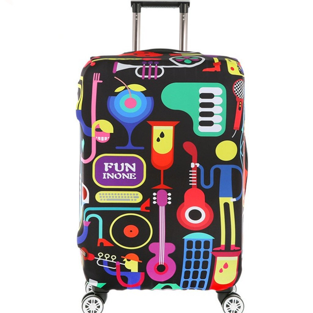 Fvstar Travel Luggage Cover Spandex Suitcase Cove Protector Washable Baggage Covers GCDZ0001