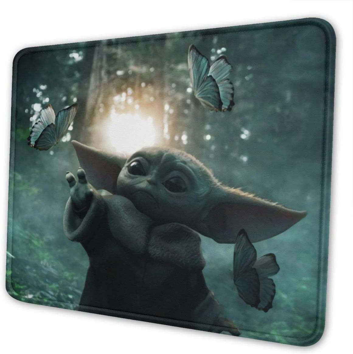KRISMARIO Star W The Man-Dalorian Ba-by Yo-Da Mouse Pad, Premium-Textured Printing Mouse Mat, Non-Slip Rubber Base Mousepad for Laptop, Computer & Pc, 8.3 X 10.3 in