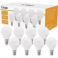 Litogo Bombilla LED E14, G45 6W(equivalente a 50W) Bombillas Bajo Consumo, 550 LM…
