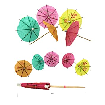 Box of 144 Paper Cocktail Umbrellas Cocktail Accessories /& Cocktail Decorations