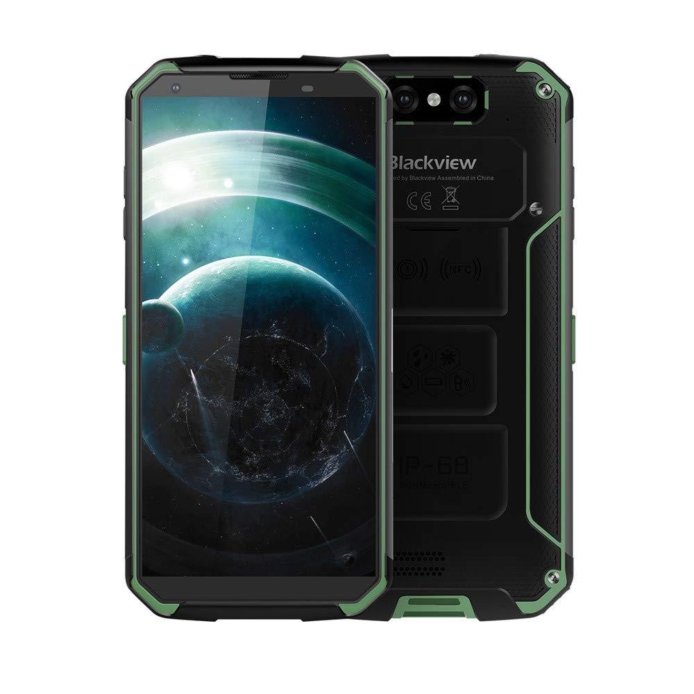 Matoen BLACKVIEW BV9500 Three Anti-Smart Phone 4GB 64GB Octa Core 5.7-inch Screen 16mp DualSim Android 8.1 Smartphone (Green)