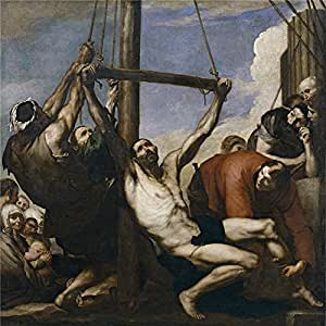 'Ribera Jose de The Martyrdom of Saint Philip 1639 ' oil painting, 20 x 20 inch / 51 x 51 cm ,printed on Perfect effect canvas ,this Cheap but High quality Art Decorative Art Decorative Prints on Canvas is perfectly suitalbe for Bar gallery art and Home decoration and Gifts