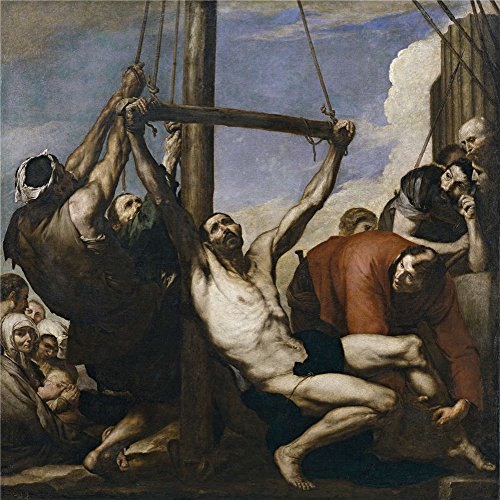 Oil Painting 'Ribera Jose De The Martyrdom Of Saint Philip 1639' 24 x 24 inch / 61 x 61 cm , on High Definition HD canvas prints is for Gifts - Sunglasses 1973 Viking