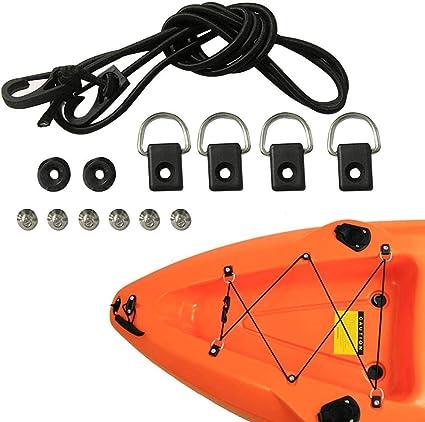 10Pcs Kayak Kanu Fischerboot D Ring \u0026 Schrauben Rigging Hardware Zubehör