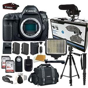 Canon EOS 5D Mark IV Digital SLR Camera Bundle (Body Only) + Accessory Bundle (14 items)