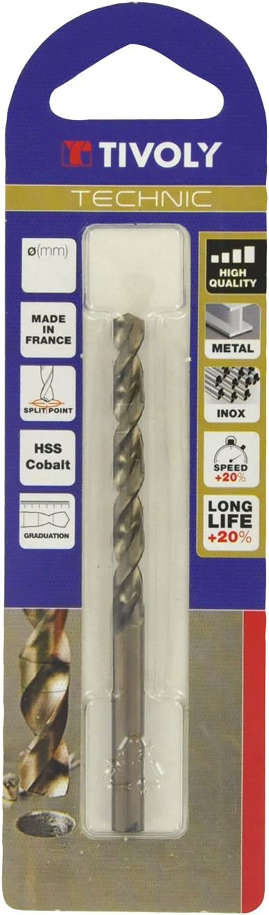 11468520600 Tivoly Technic Metal Drill Bit in Blister Pack Clear