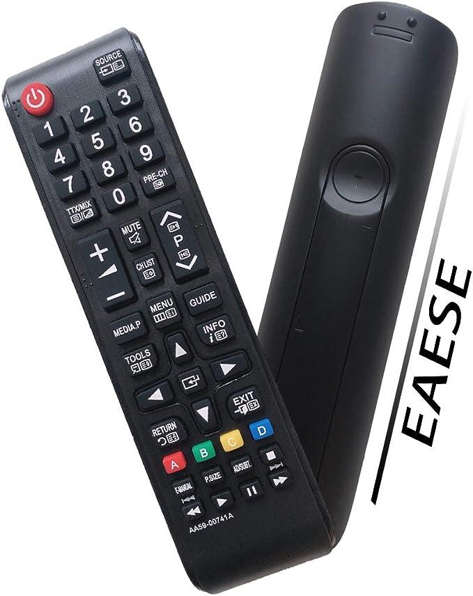 EAESE AA59-00741A Reemplazo Mando a Distancia para Samsung LCD LED Smart TV PS43F4500AW PS51F4500AM UE32J5000 UE32M4002AK UE39F5000AK UE39F5000AW UE40F5000 UE40J5100 UE46F5020AK UE46F5000AW UE49K5102: Amazon.es: Electrónica